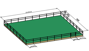 Example of a horse paddock - Silber fence products